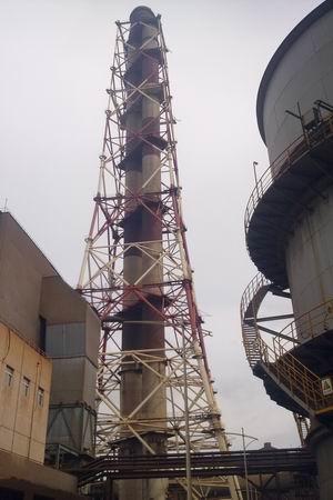 宝钢烧结烟囱钢结构改善项目开工